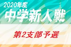 2020年 第64回東京【第2支部】中学校サッカー新人戦ブロック大会 (東京)代表校決定!結果表掲載!