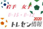 2020年度 全日本U-12選手権大会 滋賀湖北ブロック順位決定戦 優勝は長浜北!