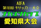速報!【優勝写真掲載】2020年度 ナカジツカップ AIFA第1回U-9サッカー大会 愛知県大会 優勝チーム決定!!
