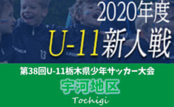 2020年度 U-11栃木県少年サッカー大会 宇河地区予選 10/17一部結果&10/25組合せ掲載!続報をお待ちしています!