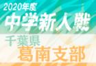 2020年度 千葉県中学校新人体育大会サッカー競技 葛南支部 組合せ掲載!10/3開幕!