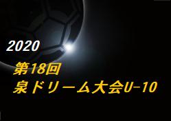 2020年度 第18回泉ドリーム少年サッカー大会U-10(宮城) 組合せ掲載!11/28.29結果速報!