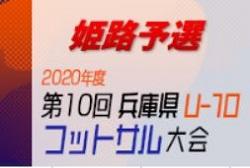2020年度 第10回 兵庫県U-10 フットサル大会 兵庫県大会  姫路予選 10/25開催!リーグ表掲載!