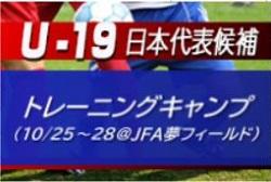 メンバー変更有【Jリーグ公式戦でも活躍する30名選出】U-19日本代表候補トレーニングキャンプ(10.25~28@高円宮記念JFA夢フィールド)メンバー・スケジュール