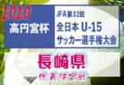 2020年度 第12回リンガーハットカップ長崎県ジュニアサッカー 雲仙市予選 優勝は国見FC!