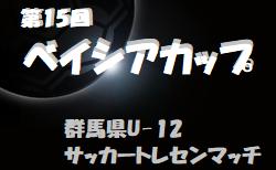 2020年度 第15回ベイシアカップ 群馬県U-12サッカートレセンマッチ 10/25結果速報