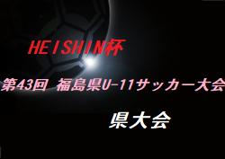 2020年度HEISHIN杯第43回 福島県U-11サッカー大会  県大会  最終結果!優勝はアストロン、バンディッツいわき、Regate!