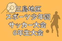 2020年度 三島地区スポーツ少年団サッカー大会 6年生大会(大阪)  優勝は吹田南!