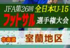 2020年度第32回 全道U-15フットサル選手権大会 根室地区予選(北海道) 優勝は別海中央中学校!