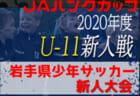 2020年度 JAバンクカップ 第38回岩手県少年サッカー新人大会 組み合わせ掲載!11/7開幕!
