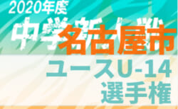 2020年度 名古屋市ユースU-14サッカー選手権(愛知)3,4回戦 3/6,7結果更新中!情報お待ちしています!次回3/13,14