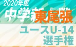 2020年度 東尾張ユース U-14 サッカー選手権大会 (愛知)  組み合わせ掲載!12/6開催
