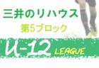 2020年度 三井のリハウス 東京U-12サッカーリーグ8ブロック 緊急事態宣言発出のため中止!
