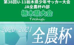 【結果表更新、全結果掲載】2020年度 U-11栃木県少年サッカー大会 JA全農杯の部 優勝はヴェルフェ矢板!ともぞうSCとともに関東大会進出!!  情報ありがとうございます!