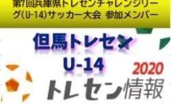 【U-14但馬トレセン】2020年度  第7回兵庫県トレセンチャレンジリーグ(U-14)サッカー大会参加メンバー