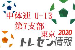 【選考会日程】中体連第7支部選抜(U-13)セレクションのお知らせ 2020年 東京