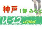 2020年度 神戸市サッカー協会U-12少年サッカーリーグ 後期1部みなとリーグ (兵庫県)  12/6結果速報!