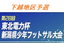 2020年度第28回東北電力杯新潟県少年フットサル大会【下越地区予選】 組合せお待ちしてます!1次ラウンド12/12.13開催