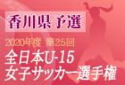 2020年度 JFA第44回全日本U-12 サッカー選手権兵庫県大会 姫路予選 優勝は大津茂!