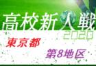 【一次中断】2020年度 東京 第1地区高校サッカー新人大会  準々決勝結果掲載!準決勝対戦カード掲載