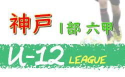 2020年度 神戸市サッカー協会U-12少年サッカーリーグ 後期1部六甲リーグ (兵庫県)  1/24結果! 13-16位確定 次回2/11