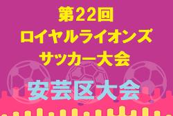 2020年度 第22回ロイヤルライオンズサッカー大会 安芸区大会 広島県 12/6開催 組合せ掲載!