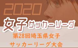 2020年度 第28回埼玉県女子サッカーリーグ大会 11/28,29結果速報!