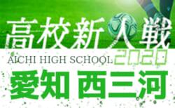 【大会中止】2020年度 愛知県高校新人体育大会 サッカー競技 新人戦  西三河支部予選  1/9,10結果更新!