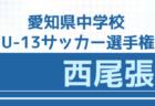 2020年度 愛知県中学校U-13サッカー選手権  東尾張地区大会 優勝は日進西中学校!