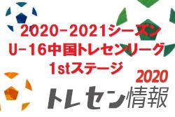 【メンバー】広島県トレセン 2020-2021シーズン U-16中国トレセンリーグ1stステージ(12/6開催) U-15参加メンバー 情報いただきました!