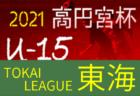 2021年度 高円宮杯 U-15リーグ東海  7/28結果更新!入力ありがとうございます!次回7/31,8/1