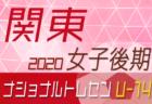 【メンバー】2020年度ナショナルトレセン女子U-14関東 開催されず中止に!