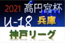 高円宮杯 JFA U-18サッカーリーグ2021 神戸市リーグ 兵庫 10/24判明分結果更新!1部優勝は滝川A!3部残り試合の情報提供お待ちしています