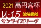 高円宮杯JFA U-15サッカーリーグ2021 関西サンライズリーグ 4/10全結果!次節4/17,18