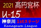 高円宮杯JFA U-15サッカーリーグ2021 神奈川 1stステージ 4/17,18 1~4部結果更新!結果入力ありがとうございます!