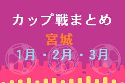 2021年1月・2月・3月カップ戦まとめ☆宮城県開催大会☆泉ブロックU-12交流会 2/27,28結果掲載!