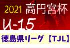 2021年度 高円宮杯U-15サッカーリーグ 徳島県リーグ TJL 1/16.17結果速報 情報募集