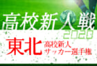 速報!2020年度 第20回東北高校新人サッカー選手権大会 尚志,専北,明桜,山田が2回戦進出!次は13:00から4試合開催!