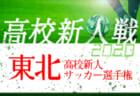 速報!2020年度 第20回東北高校新人サッカー選手権大会 ベスト8決定!1回戦全結果掲載!準々決勝は1/24開催