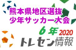 2020年度 第31回熊本県地区選抜少年サッカー大会(6年)2/28開催!