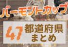 【2021年度バーモントカップ】第31回全日本少年フットサル大会 夏の全国大会に向けた闘いが始まっています!【47都道府県まとめ】
