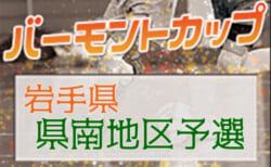 2020年度 JFAバーモントカップ 第31回全日本 U-12フットサル選手権 岩手県大会 県南地区予選  1/15,16結果速報!組み合わせ情報もお待ちしています!