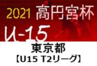 高円宮杯 JFA U-15 サッカーリーグ 2021(東京)【U15T2リーグ】6/6までの結果更新!次回日程募集