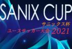 サニックス杯ユースサッカー大会 2021(福岡県開催)組合せ掲載!3/18~21 開催予定