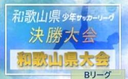 2020年度 和歌山トヨタカップ 第44回和歌山県小学生サッカー Bリーグ決勝大会 2/27,28結果速報!