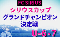 2020年度 第1回 シリウスカップ U-6・U-7 グランドチャンピオン決定戦U-6,U-7(愛知)U-6の部はクレバーフット、U-7の部はFCシリウスAが優勝!