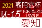 2021年度 高円宮杯 JFA U-15サッカーリーグ 愛知 TOP,1部,2部  3/6,7結果更新!入力ありがとうございます!