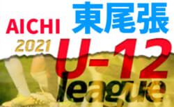【5/31まで中止】2021年度  東尾張U-12リーグ前期(愛知)Bブロック作成ありがとうございます!組み合わせ・次回日程情報をお待ちしています!