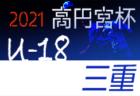 2021年度 高円宮杯 JFA U-18サッカー プリンスリーグ四国 7/25.26結果掲載!次戦8/1!
