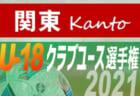 速報!2021年度 日本クラブユースサッカー選手権(U-18)関東大会 ノックアウトステージ 5/16 1回戦全結果更新!次は5/19,22,23他開催!